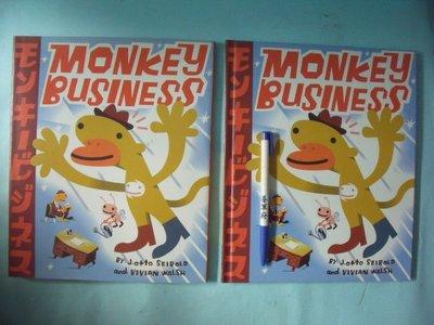 【姜軍府童書館】《MONKEY BUSINESS》英文繪本故事 VIKING 英語