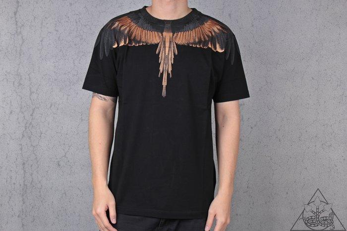 【HYDRA】Marcelo Burlon Gold Wings T-shirt 翅膀 羽毛 短T 黑金【MB26】