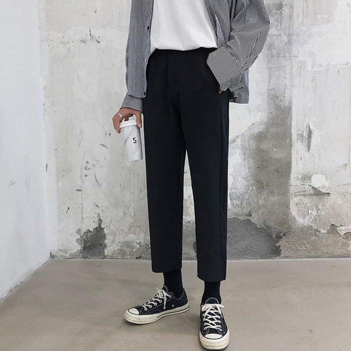 Korea Sense韓版 春夏新品 薄款舒適垂墜感寬鬆休閒九分褲 1色