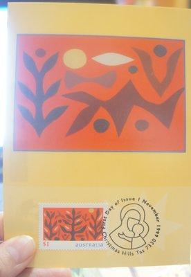 (全新)澳洲1999年--明信片+(郵票)首日