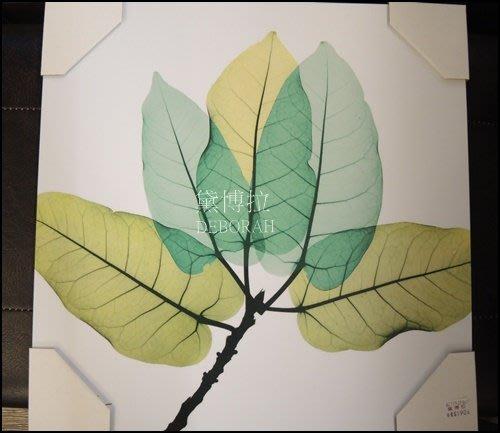 高雄.黛博拉家飾精品. 現代簡約北歐風樹葉花朵無框畫畫壁飾掛畫壁畫40*40小品畫送禮裝飾壁飾玄關客廳店面居家佈置
