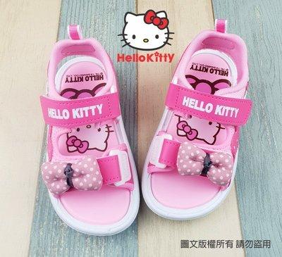 【琪琪的店】三麗鷗 HELLO KITTY 凱蒂貓 童鞋 女童 拖鞋 舒適 休閒鞋 二帶式 涼鞋 桃紅 819217