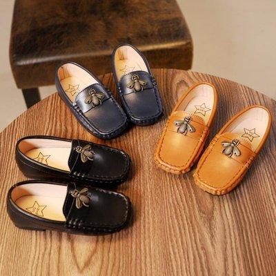 小皮鞋 軟底男童皮鞋韓版女童公主單鞋1-6歲2兒童鞋3春季4豆豆鞋 WE705