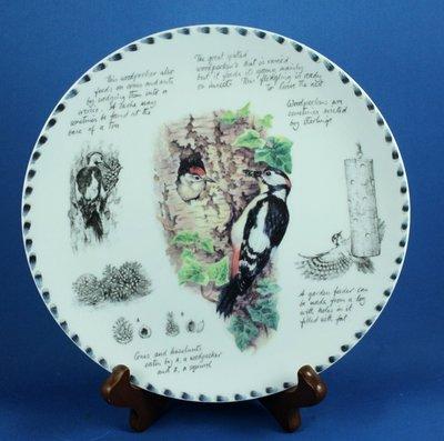 [美]英國百年名瓷WEDGWOOD  骨瓷裝飾盤 - THE GREAT SPOTTED WOODPECKER