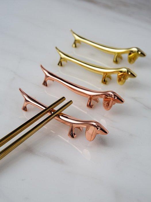 筷子筷架 米立風物創意筷架筷托勺托日式可愛臘腸狗筷枕個性精致餐具筷子架