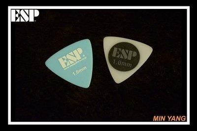 【民揚樂器】/日本ESP 三角形 彈片 匹克 PICK 全館Pick買五送一 1 撥片/GSP優良樂器商