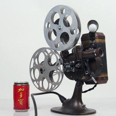 百寶軒 工業風古董日本Sakura櫻花牌電動手搖兩用16mm電影機放映機 ZG3336
