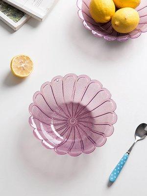 廚房寶居家家透明塑料水果盤家用沙拉碗客廳干果盤茶幾零食糖果盤瓜子盤