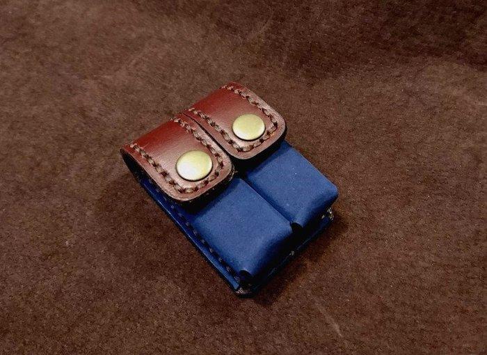 (KH手工皮革工作室)全手工打版縫製牛皮圓形方形六分章印章套印章包皮革內裡包覆皮革縫線可自選生日情人節禮物紀念品MIT