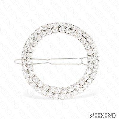 【WEEKEND】ROSANTICA Luci Crystal 水晶 髮夾 銀色 19春夏