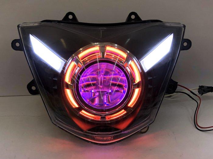 【炬霸科技】光陽 G6 魚眼 大燈 頭燈 D2S LED 日行燈 125 150 燈眉 變更 HID 光型 光圈 天使眼