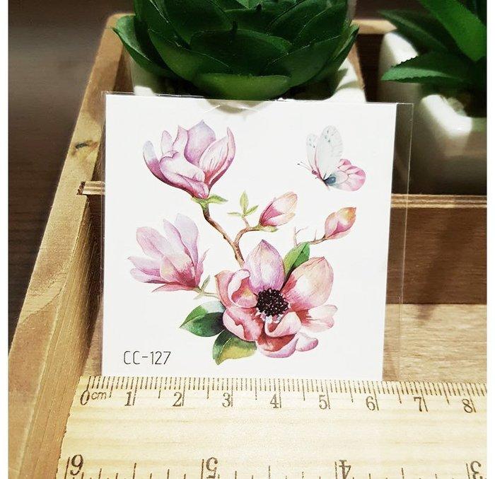 【萌古屋】花朵單圖CC-127 - 防水紋身貼紙刺青貼紙K38
