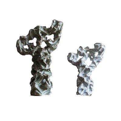 千禧禧居~陶瓷太湖石假山裝飾品 新中式家居客廳書房博古架禪意擺件工藝品