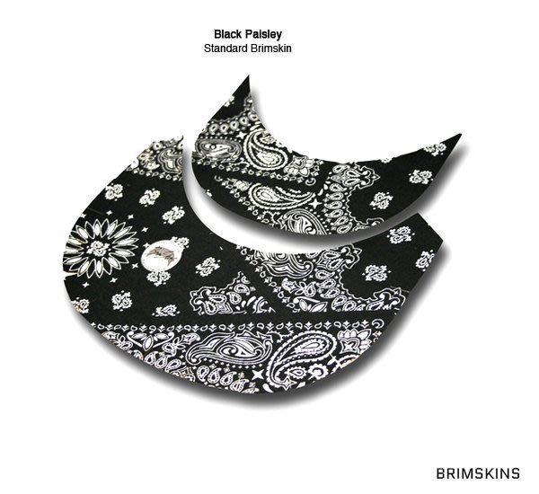 GOODFORIT / 美國Brimskins客製帽簷布材貼布/完美結合Snapback帽簷/Black Paisley