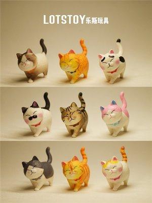 滿199發貨~~散貨 仿真動物 彩色眯眼小萌貓 英短大橘 微縮塑料玩具擺件模型
