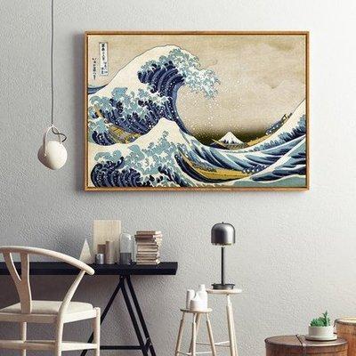 日式餐廳裝飾畫浮世繪富嶽三十六景葛飾北齋神奈川衝浪里