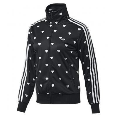 【美國鞋校】現貨 Adidas Graphic Sweatjacket Black/Run White W64389 黑白 愛心 輕薄外套 2NE 1 著用
