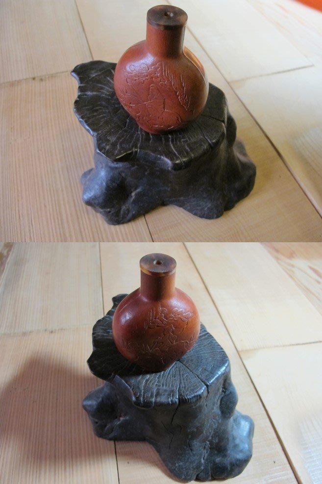 【藏拙】葫蘆松下高仕鼻煙壺-老件