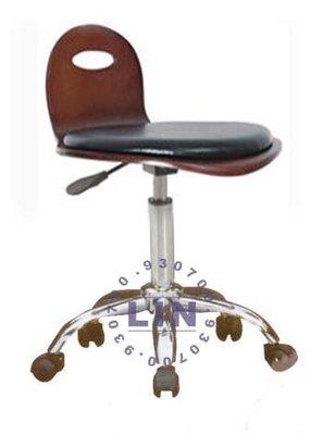 【品特優家具倉儲】◎R509-14吧台椅櫃檯椅510曲木吧台椅五爪輪彎腳