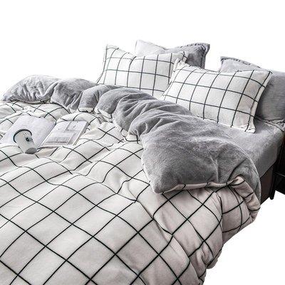 @生活家居城珊瑚絨四件套冬季雙面加絨三件套絨面床單被套加厚法蘭絨床上用品