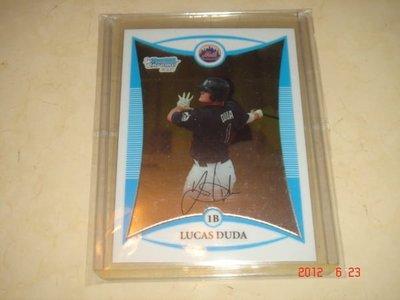 美國職棒 Mets Lucas Duda  2008 Bowman Chrome Prospects #BCP147 RC 新人卡 球員卡