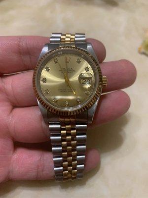 懂的看過來。勞力士非16233款16013,1601,正k金框,k金錶帶,k金龍頭,水晶玻璃。eta2846機心。這些價格超出錶價。不含錶帶15000。謝謝