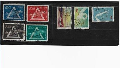 (嚕嚕咪】49年國際勞工&雷虎航空--銷戳舊票