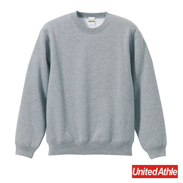 『United Athle』5928-01 10oz 重磅 厚質棉 刷毛 素面 大學Tee 灰色