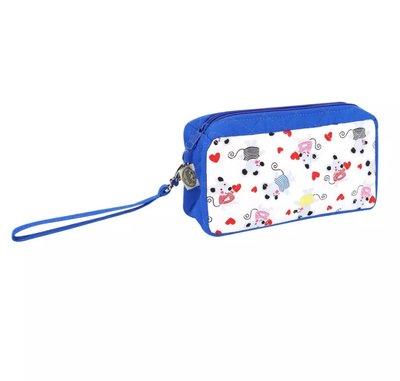 【泰國直送新款】全新3色@NaRaYa菱格紋雙層手拿包/化妝包/萬用包/錢包~手提帶可以拆卸