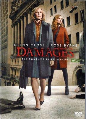 金權遊戲 Damages 第三季 葛倫克羅絲 DVD 3區 有中文字幕 再生工場3 03