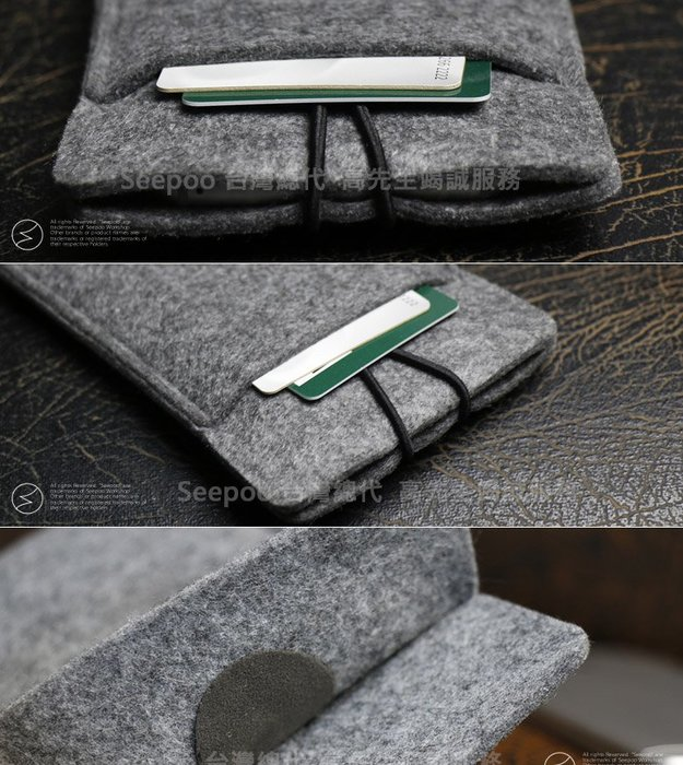 【Seepoo總代】2免運 拉繩款 一加 OnePlus 6T 6.41吋 羊毛氈套 手機殼 手機袋 白灰 保護套