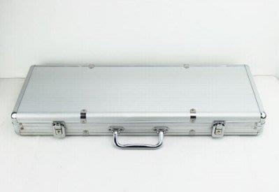 【易發生活館】德州撲克籌碼套裝鋁箱 百家樂麻將籌碼箱 籌碼盒 銀色500碼