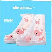 艾町Eyeing Shop 梅雨必備雨鞋套  粉鯨魚款下單區   兒童雨鞋套防水雨天雨鞋套防滑耐磨卡通款升級版