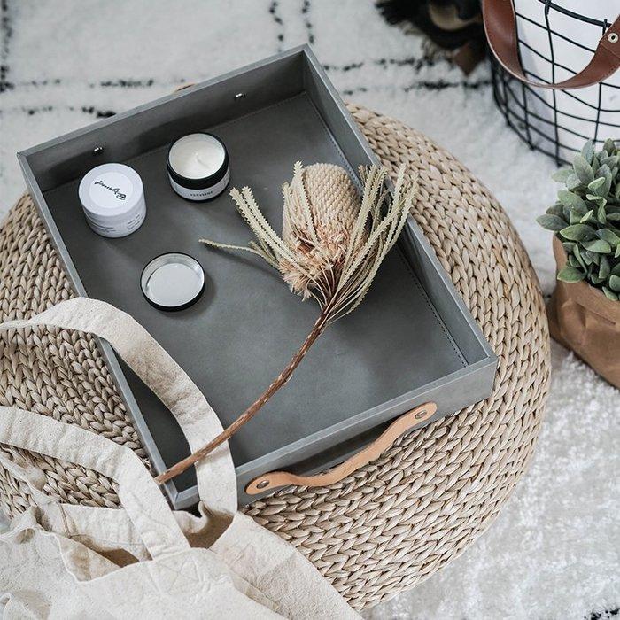 MAJPOINT*PU皮革托盤 居家收納盒 首飾飾品 桌面鑰匙 文具雜物 北歐 輕奢華 攝影 美器 簡約 零食 展示盤