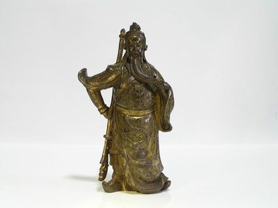 永大慶古美術 *** 早期 ~ 銅鎏金關聖帝君 ***