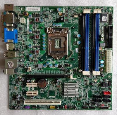 ACER M4610主機板型號Q65H2-AM 1155腳位附檔板加贈ACER原廠CPU風扇