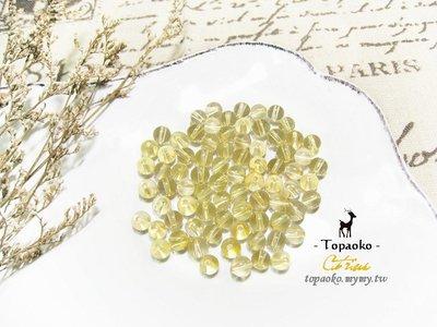 天然石.DIY串珠 天然巴西黃水晶圓珠隨機15P【F9317】約5.5mm黃晶散珠條珠手作水晶《晶格格的多寶格》