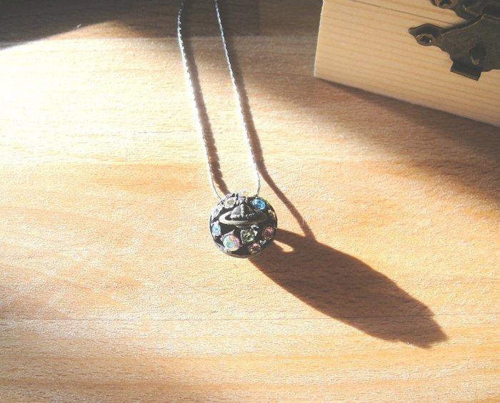 純銀項鍊925銀飾項鍊土星款 同vivienne westwood 土象星座