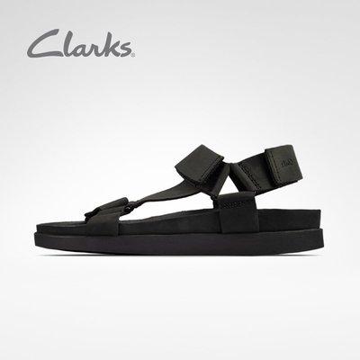 奇奇clarks其樂男鞋Sunder Range2021春夏新款簡約舒適魔術貼沙灘涼鞋