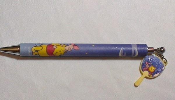~FUJIJO~現貨~日本迪士尼DISNEY STORE限定商品【Winnie維尼 Pooh】日本製 和風月扇 原字筆
