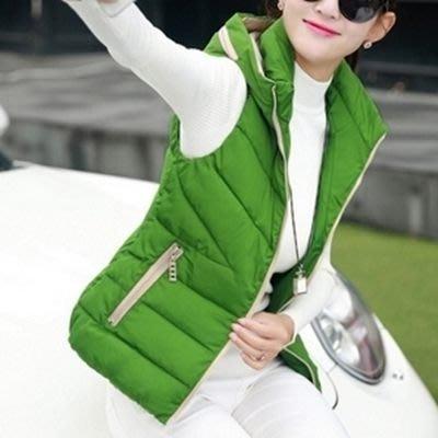輕羽絨背心外套-短款韓版修身顯瘦女背心4色72x14[獨家進口][米蘭精品]