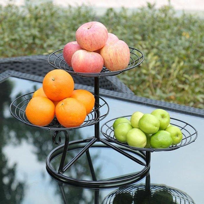 水果盤客廳創意家用果盤創意現代客廳茶幾多功能歐式簡約現代多層Y-優思思
