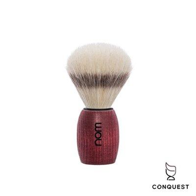 【 CONQUEST 】德國 nom OLE系列 OLE41BA Shaving Brush 刮鬍刷 鬃毛刷 白蠟木握柄