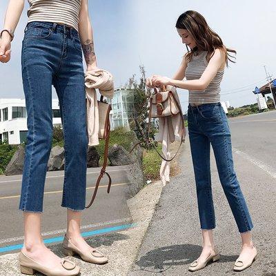 剛好的長度顯瘦顯高超實穿丹寧褲 彈性小...