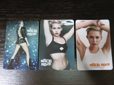 yes card Miley Cyrus 共3張