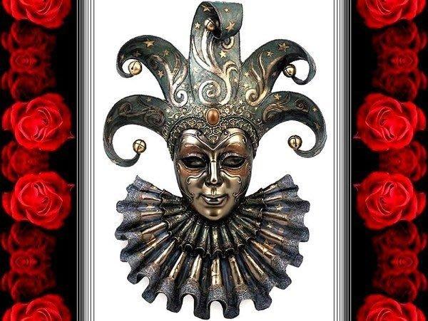 [ Vero 設計 手工彩繪 華麗歌劇院傳說-表演者 掛飾 ]-歌劇魅影 威尼斯 嘉年華 面具.