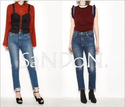 SaNDoN x『SLY』秋季新入荷 前短後長不規則設計流蘇直筒丹寧牛仔褲 MOUSSY 170725