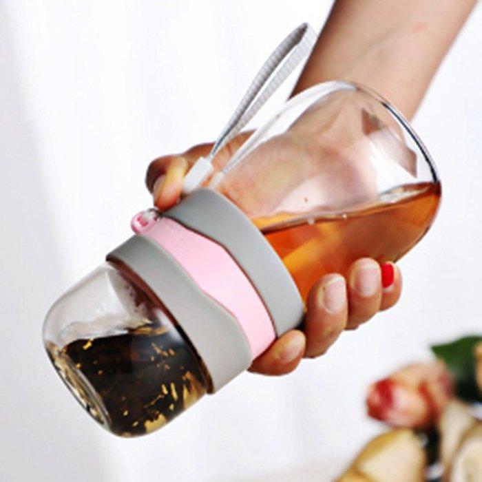 茶水分離雙層玻璃泡花茶杯子創意喝水女茶杯隨手帶蓋便攜過濾水杯玻璃水杯 陶瓷水杯 保溫杯 熱賣 保溫瓶 隨身杯 茶杯