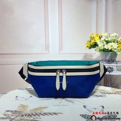 美國大媽代購 Burberry 巴寶莉 英倫經典 新款時尚 藍色腰包 美國代購
