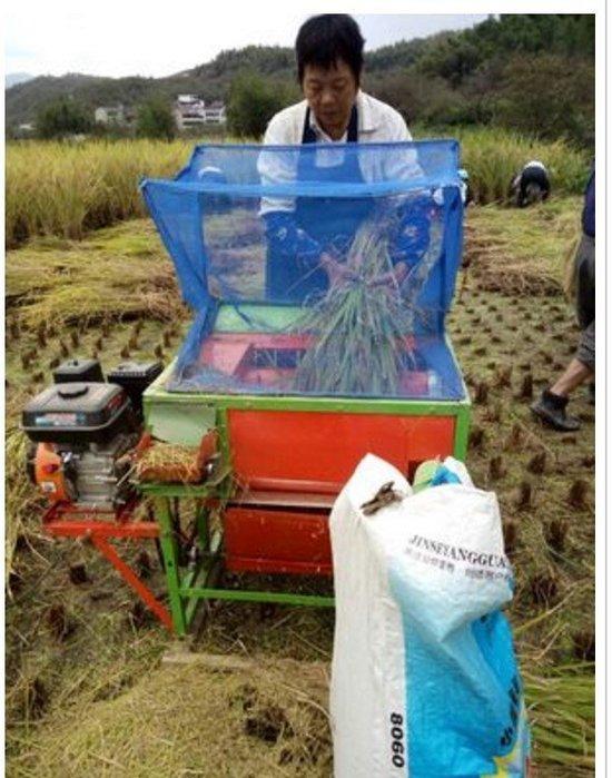 汽油引擎帶動,輕便水稻脫粒機/小米打穀機/稻穀收割機